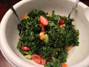 Tender Kale Salad with Miso Dressing