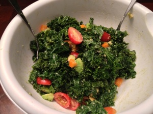 Tender Kale Salad with Miso Dressing